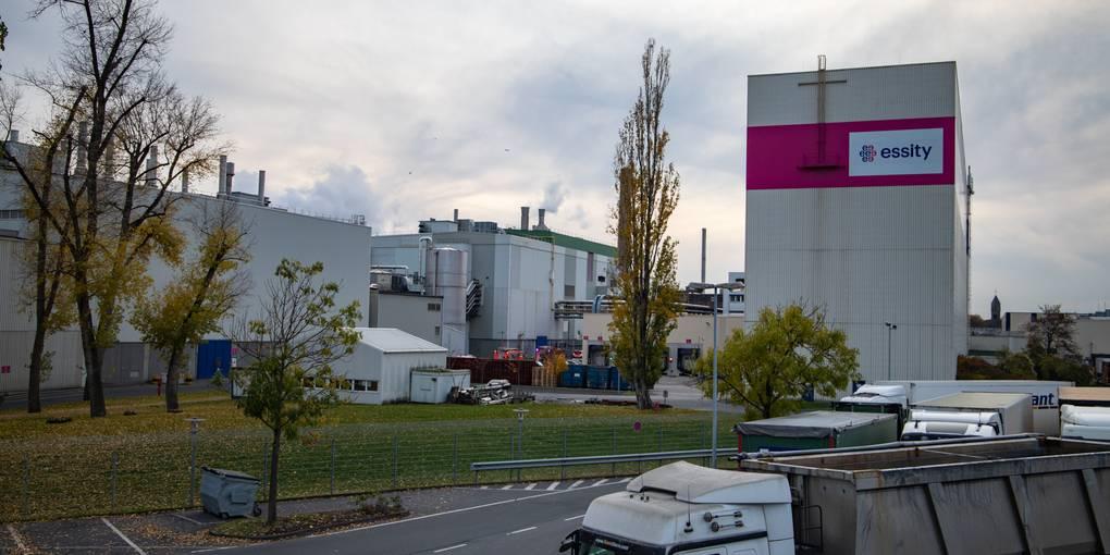 Brand in Kostheimer Papierfabrik Essity
