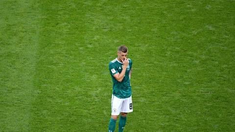 Toni Kroos nach der Niederlage gegen Südkorea. Foto: dpa