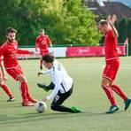 Der Michelbacher 7:0-Sieg beim FC Gießen II am 17. Oktober 2020 bleibt vorerst der letzte Verbandsliga-Auftritt des TSV.  Foto: Schepp