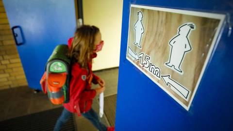 So bereiten sich Wiesbadener Schulen auf die kommende Woche vor. Archivfoto: Sascha Kopp