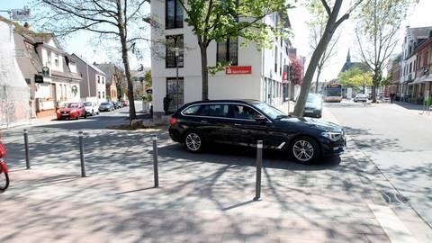 Das Stück der Nestlestraße (im Bild links) wird schon bald nur noch in die andere Richtung befahrbar sein. Foto: hbz/Jörg Henkel