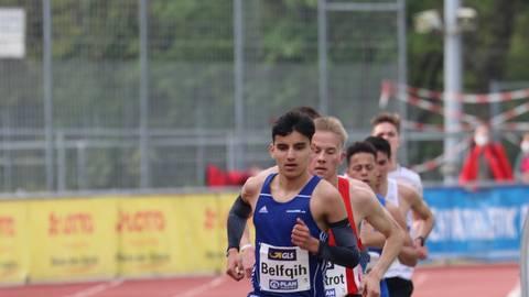 Zeitweise in Führung: Anas Belfqih bei den Titelkämpfen in Mainz, bei denen er Bronze gewann. Foto: Günter Jung