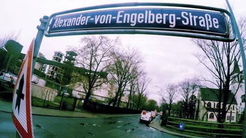Die Alexander-von-Engelberg-Straße in Amöneburg. Foto: hbz/Jörg Henkel