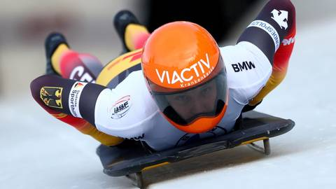 2020 steht sie ganz oben auf dem Podest, jetzt nimmt Tina Hermann bei der Weltmeisterschaft, die wie im zurückliegenden Jahr wieder in Altenberg stattfindet, einen neuen Anlauf auf Gold.  Fotos: dpa