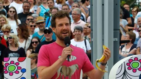 Komiker Luke Mockridge im ZDF-Fernsehgarten. Foto: dpa