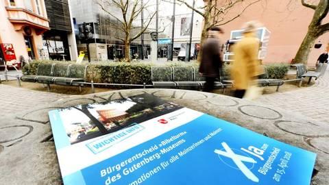 Das Gutenberg-Museum bekommt keinen Bibelturm. Die Mainzer stimmten mit großer Mehrheit gegen das Bauprojekt. Foto: Harald Kaster  Foto: Harald Kaster