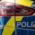 Das Heck eines Polizeiautos. Symbolfoto: dpa