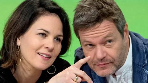 Wer wird Kanzlerkandidat der Grünen? Annalena Baerbock und Robert Habeck. Archivfoto: dpa