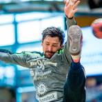 Niko Weber wird im Test gegen Rimpar nicht im Tor der Hüttenberger stehen, er ist angeschlagen. Foto: Eibner