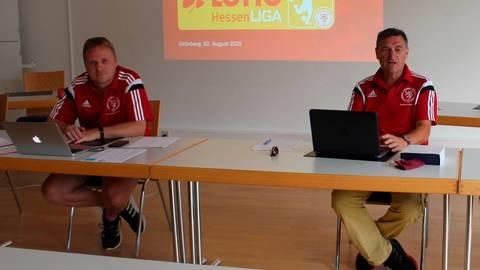 Stellvertreter Matthias Bausch (links) und Verbandsfußballwart Jürgen Radeck.  Archivfoto: fs