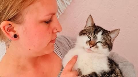 Nachdem Peppels wegen einer Vergiftung in der Tierklinik war, ist die Katze noch nicht wieder auf den Beinen.  Foto: Mirjana Wenzel