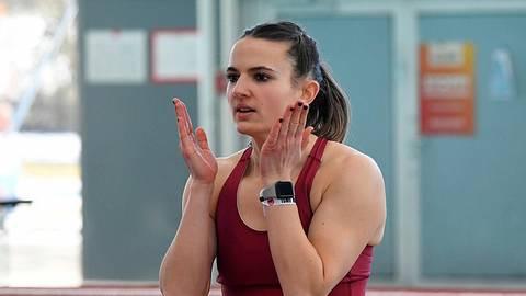 Vorbereitung auf den Sprung: Vanessa Grimm. Foto: kie