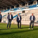 Wiedergewählt wurde das Präsidium des SV Darmstadt 98. Von links: Wolfgang Arnold, Volker Harr, Rüdiger Fritsch, Markus Pfitzner und Anne Baumann. Foto: SV 98