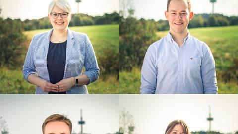 Bilden das Spitzenteam der Jungen Union auf der CDU-Liste für die Vogelsberger Kreistagwahl: Jennifer Gießler, Lukas Kaufmann, Marvin Höbeler und Laura Refflinghaus. Foto: CDU
