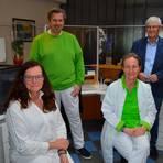 Das Team in Obertiefenbach (von links): Petra Litzinger, Dr. Erik Rauchfuß, Petra Balzer und Dr. Peter Langer. Foto: Andreas E. Müller