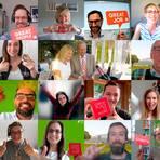 Gemeinsam anstoßen auf die erneute  Auszeichnung: Virtuell waren alle Pascoe-Mitarbeiter bei der Feier zusammen. Foto/Collage: Pascoe
