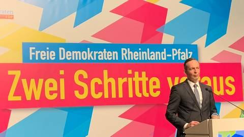 Volker Wissing auf dem Listenparteitag der rheinland-pfälzischen FDP in Mainz. Foto: Ulrich Gerecke
