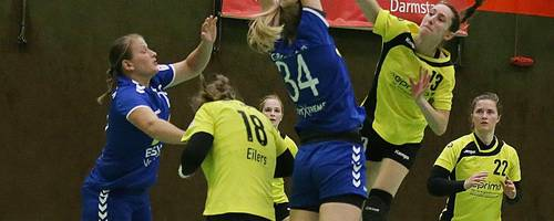 Celina Schwarzkopf versucht sich für die HSG Weiterstadt/Braunshardt/Worfelden im Abschluss. Am Ende stand gegen Bretzenheim eine deutliche 16:31-Niederlage. Foto: Thomas Zöller