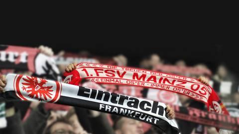 Fans von Eintracht Frankfurt und Mainz 05. Archivfoto: imago