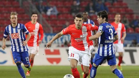 In Meckbachs Team stehen drei heimische Talente, die es weit gebracht haben: Shawn Parker stürmte mit Mainz 05 in der Bundesliga. Archivfoto: hbz/Sämmer