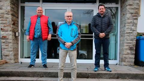 Holm Müller (v.l.), Michael Schmidt und Stefan Bamberger bilden den neuen Ortsbeirat in Hommertshausen. Foto: Sascha Valentin