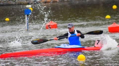 Simon Specht hat den Wassersportverein Lampertheim bei der Bundesrangliste 2021 im Kanurennsport gegen starke Konkurrenz gut vertreten. Foto: WSV Lampertheim
