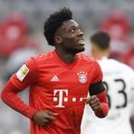 Alphonso Davies vom FC Bayern München. Foto: dpa