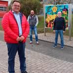 Der neue Ortsbeirat in Guntersdorf (v.l.): Ortsvorsteher Ramin Behnam, Oliver Maier, Bernd Rademacher und Birgit Hecker-Georg. Zum Gremium gehört auch noch Thomas Spaether (fehlt). Foto: Christian Hoge