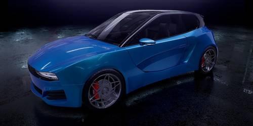 Die Gründer von HTM wollen ein Fahrzeug mit Wasserstoff-Verbrennungsmotor bauen. So könnte es aussehen.  Visualisierung: HTM