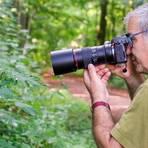 Michael Lamberty, Vorsitzender des Film- und Fotoclubs Groß-Gerau, macht gerne Jagd auf interessante Motive - wie hier im Wald. Archivfoto: Vollformat/Marc Schüler
