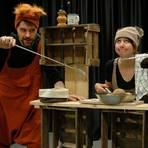 Julia Lehn und Andreas Konrad im neuen Kinderstück des Theaters Lakritz.   Foto: Theater Lakritz