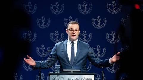 Bundesgesundheitsminister Jens Spahn auf dem 124. Deutschen Ärztetag. Foto: dpa