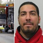 Ramsy Azakir wird nach dem tödlichen Unfall auf der A66 bei Hofheim gesucht.  Fotos: Polizei, wiesbaden112/dpa