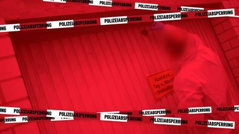 In dieser Garage in Schwalbach im Taunus wurden 2014 Leichenteile gefunden. Archivfoto: dpa