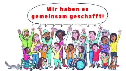 Solidarität hilft zum Erfolg: Davon erzählt das von Axel Scheffler illustrierte Buch über das Coronavirus aus dem Beltz-Verlag. Foto: Beltz-Verlag