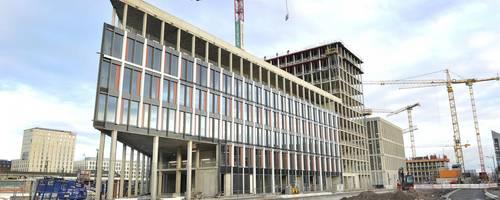 Dies ist einer der markanten Neubauten, die das künftige Gesicht des Glückstein-Quartiers prägen werden. Foto: Gerold