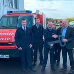 Die Feuerwehr Steinberg hat zwei neue Fahrzeuge eingeweiht. Foto: Wolf