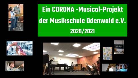 """Schüler und Musikpädagogen der Musikschule Odenwald haben ein Musical unter dem Titel """"Singen verboten"""" erarbeitet. Dieses befasst sich mit den Folgen der Corona-Pandemie. Foto: Manfred Giebenhain"""