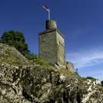 Burg Falkenstein war einst eine gefürchtete Raubritterburg. Heute ist hier bei Königstein nicht mehr viel zu sehen. Foto: Stadt Königstein