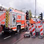 Die Rettungskräfte waren am Nachmittag im Einsatz. Foto: web