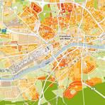 Mit der Wohnlagenkarte  stellt das Institut eine Stütze zur Preisfindung bei Immobilien bereit. Screenshot: wohnlagenkarte.de / VRM