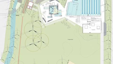 Die Planung für das neue Freibad sieht eine Ein-Becken-Lösung vor, die sich flexibel an den Badebetrieb anpassen lässt. Foto: Bremer und Bremer/Stadt Groß-Umstadt