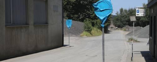 Auch mit der Einengung der Straßenbreite auf der öffentlichen Straße mitten im Steinbruchgelände scheiterte die Gemeinde Steffenberg im vorigen Jahr.  Foto: Edgar Meistrell