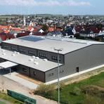 Die neue Sporthalle wird voraussichtlich im Juni fertiggestellt. Foto: hbz/Jörg Henkel