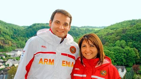 Einmal an den Olympischen Spielen teilzunehmen, das wäre auch für Christian und Irina Lauer eine Verlockung. Beide leben in Herborn und schießen international für Armenien.  Archivfoto: Christian Lauer