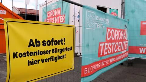 Covimedical betreibt bundesweit mehr als 60 Corona-Schnelltest-Center, darunter dieses in Dillenburg.  Foto: Jörgen Linker