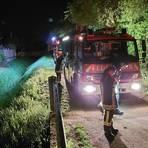 Taucher bargen aus dem Weiher bei Laubenheim eine Leiche. Foto: Freiwillige Feuerwehr Mainz