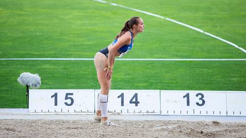 Blick nach vorn: WLV-Dreispringerin Sophie Ullrich freut sich auf den Wettkampf am Sonntag. Archivfoto: Raphael Schmitt