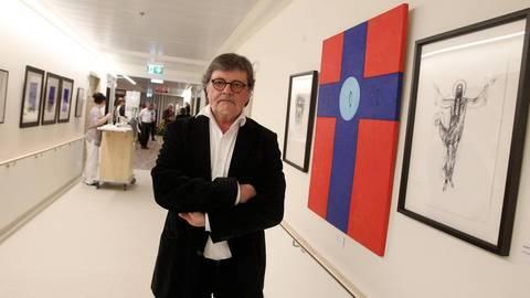 Der Künstler Dorél Dobocan zeigt mehr als 60 Bilder in Krankenhausfluren und Patientenzimmern  Foto : hbz/Jörg Henkel