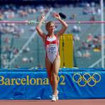 Zufrieden und glücklich: Siebenkämpferin Birgit Clarius überspringt bei den Olympischen Spielen 1992 in Barcelona 1,82 Meter und wird am Ende Siebte. Foto: imago